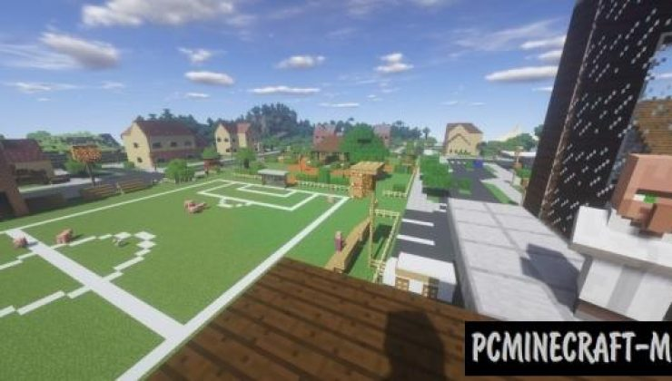 Fortnite's Pleasant Park Map For Minecraft