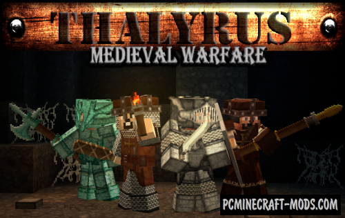 Thalyrus Medieval Warfare 32x Resource Pack MC 1.16.5, 1.16.4