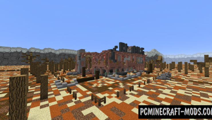 The Zombie Apocalypse II: Hell's Fury Map For Minecraft