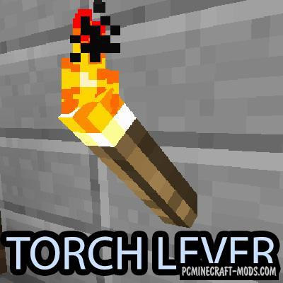 Torch Lever Mod For Minecraft 1.13.2, 1.12.2