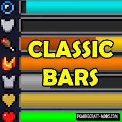 Classic Bars - New HUD Mod For Minecraft 1.15.2, 1.14.4