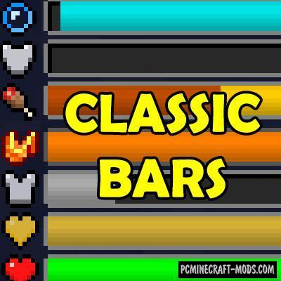 Classic Bars - New HUD Mod For Minecraft 1.16.3, 1.15.2, 1.14.4