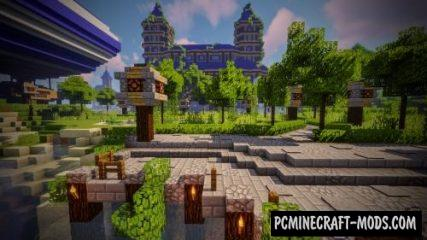 Castle and Gladiator Arena Map For Minecraft