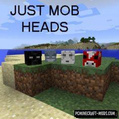 Just Mob Heads - Tweak Mod For MC 1.16.5, 1.16.4, 1.12.2