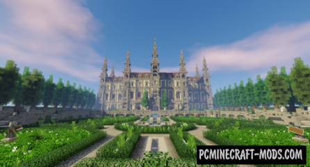 French Castle with Garden Map For Minecraft