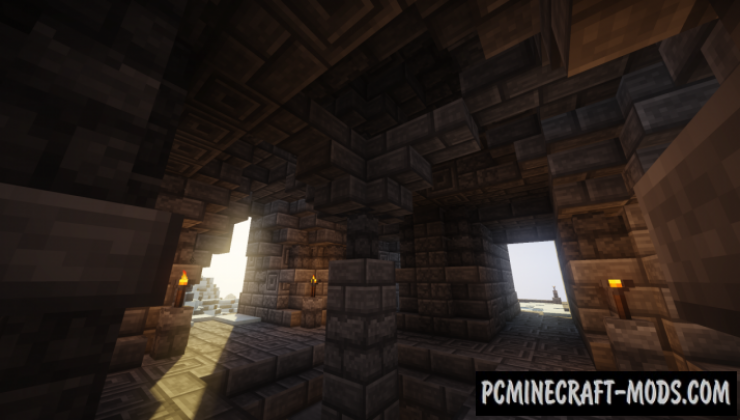 A Northen Temple from Skyrim Map For Minecraft