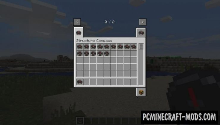 Structure Compass - Tool Mod For Minecraft 1.15.2, 1.14.4