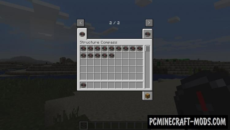 Structure Compass - Tool Mod For Minecraft 1.14.4, 1.13.2