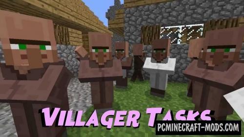 Villager Tasks Map For Minecraft