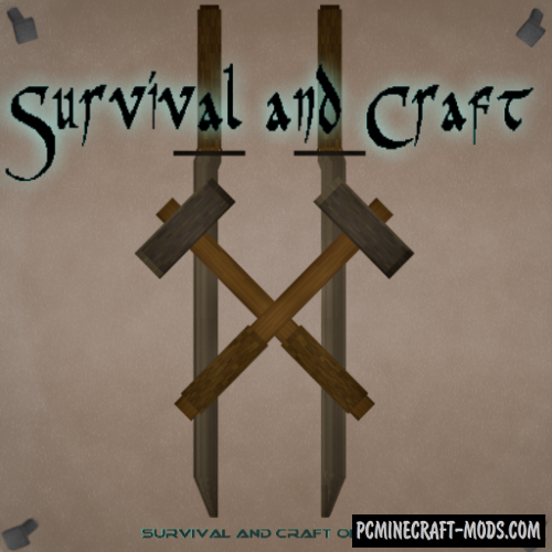 Survival and Craft 16x Resource Pack For MC 1.15.1, 1.14.4