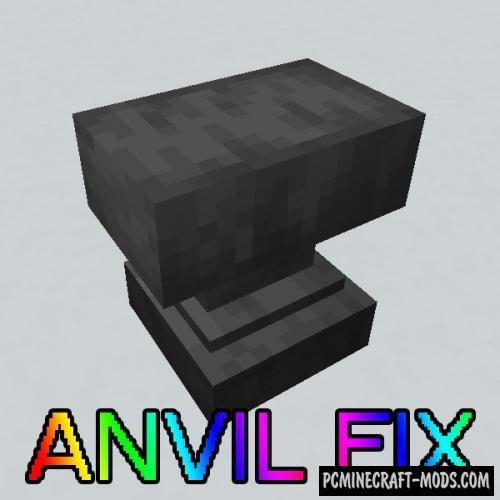 Anvil Fix - Tweak Mod For Minecraft 1.16.5, 1.15.2, 1.12.2