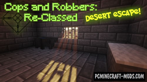 Cops and Robbers: Desert Escape Map For Minecraft