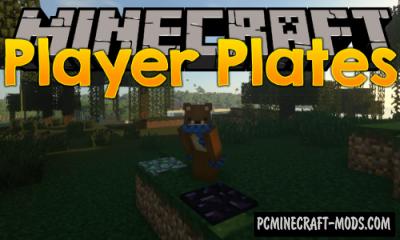 Player Plates - New Blocks Mod For Minecraft 1.17.1, 1.16.5, 1.15.2