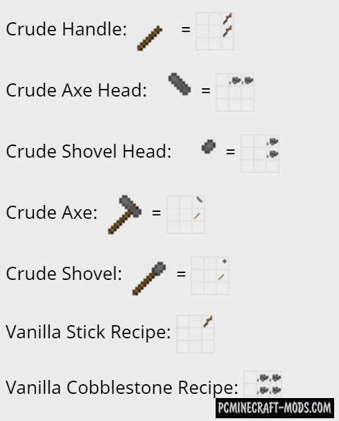 A Crude Start Mod For Minecraft 1.12.2