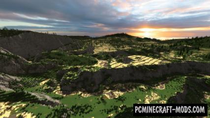 Spring Highlands Map For Minecraft