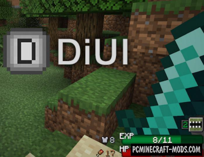 DiUI RPG Hotbar Fabric Mod For Minecraft 1.14.1, 1.14
