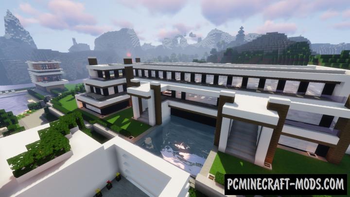 Modern Luxury Mansion Map For Minecraft
