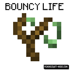Bouncy Life - Slime Armor, Weapon Mod For 1.16.1, 1.15, 1.14.4
