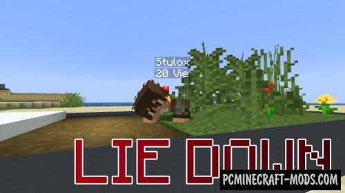 Lie Down Data Pack For Minecraft 1.14