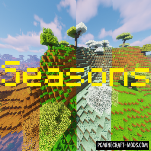 Changing 3D Seasons 16x Texture Pack For MC 1.16.5, 1.16.4