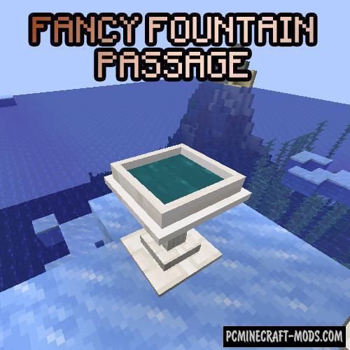 Fancy Fountain Passage - Tool Mod Minecraft 1.16.5, 1.16.4