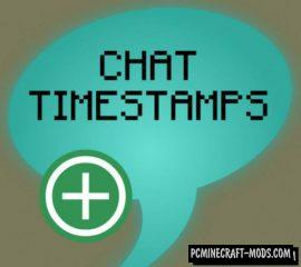Chat Timestamps Mod For Minecraft 1.14.1, 1.14