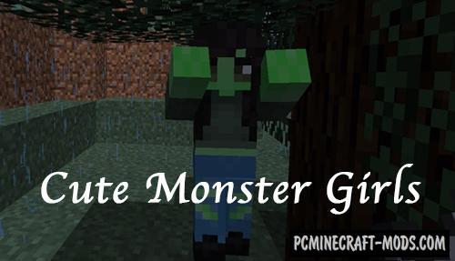 Cute Monster Girls Resource Pack For Minecraft 1.13.2