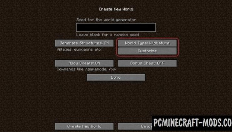 WildNature - 65 New Biomes Mod For Minecraft 1.14.4, 1.12.2