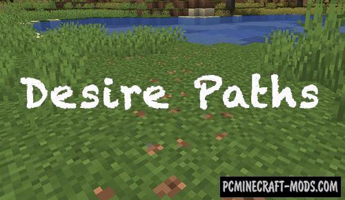 Desire Paths Mod For Minecraft 1.14.3, 1.14
