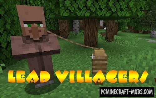 Lead Villagers - Tweak Mod For Minecraft 1.16.5, 1.15.2
