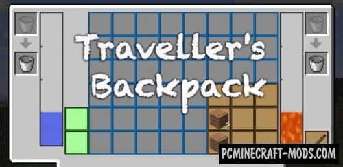 Traveller's Backpack - Adv Mod For Minecraft 1.16.5, 1.12.2