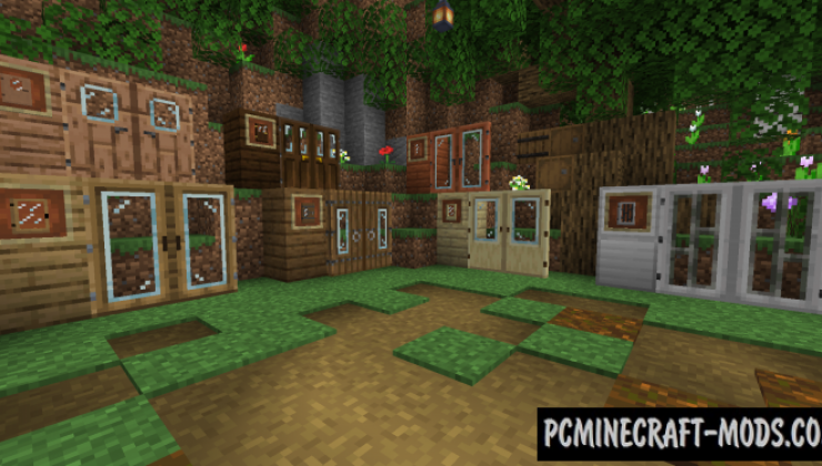 Glass Doors Resource Pack For Minecraft 1.14.1, 1.13.2, 1.12.2, 1.7.10