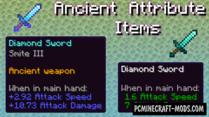 Ancient Attribute Items in End Cities Data Pack For Minecraft 1.14.1