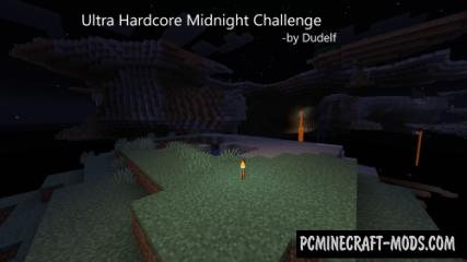 Ultra Hardcore Midnight Challenge Map For Minecraft
