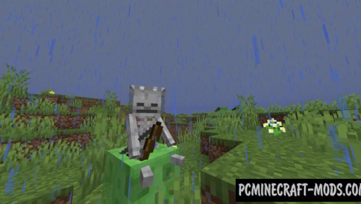 Slime Rain Data Pack For Minecraft 1.14.3, 1.14