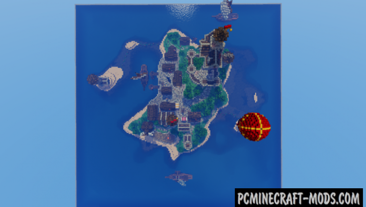 Island Kingdom Map For Minecraft