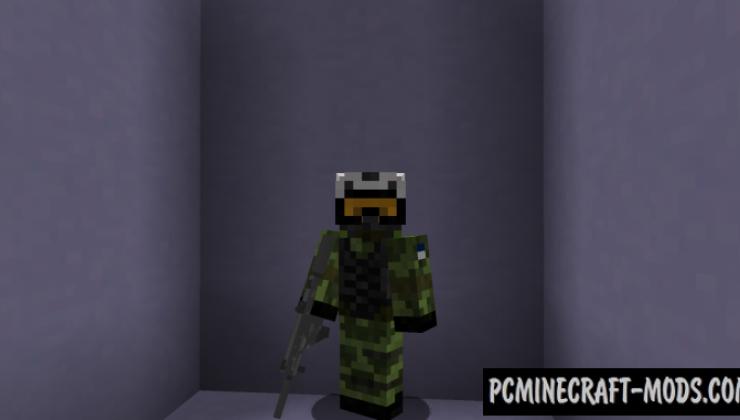 Diamond Caliber - Gun Mod For Minecraft 1.12.2