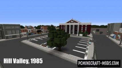 Back To The Future 1985 Square Map For Minecraft