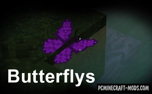 Butterflys - Creatures Mod For Minecraft 1.12.2
