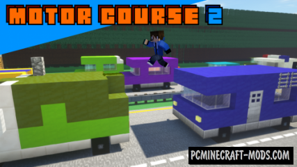 Motor Course 2 Map For Minecraft
