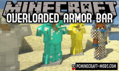 Overloaded Armor Bar - HUD Mod For Minecraft 1.14.4, 1.12.2