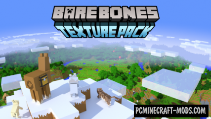Bare Bones 16x Resource Pack For Minecraft 1.15, 1.14.4