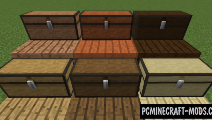 I Like Wood - Vanilla Furniture Mod MC 1.16.5, 1.16.4