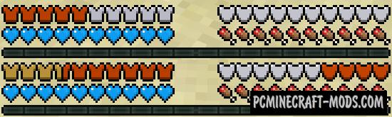 Overloaded Armor Bar - HUD Mod For Minecraft 1.16.3, 1.15.2, 1.14.4