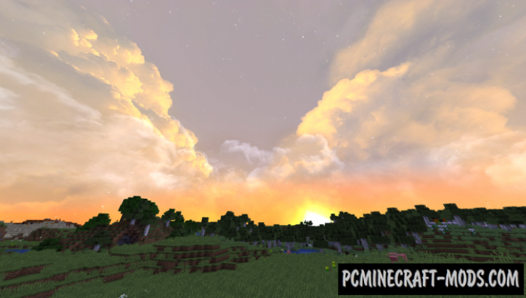 Fancy Skies 512x, 128x Resource Pack For MC 1.15.2, 1.14.4