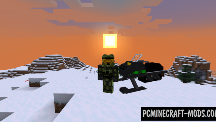 Snowmobiles Data Pack For Minecraft 1.14.3, 1.14
