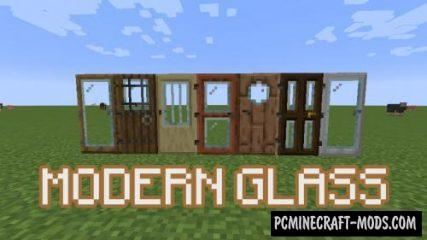 Modern Glass Doors - Decor Mod For MC 1.16, 1.15.2