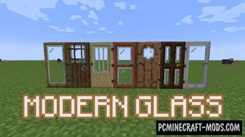 Modern Glass Doors - Decor Mod For MC 1.16.3, 1.15.2