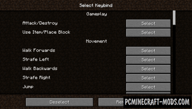 I Need Keybinds - Tweak Mod For Minecraft 1.15, 1.14.4