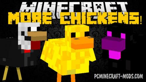 More Chickens Mod For Minecraft 1.12.2, 1.11.2, 1.10.2